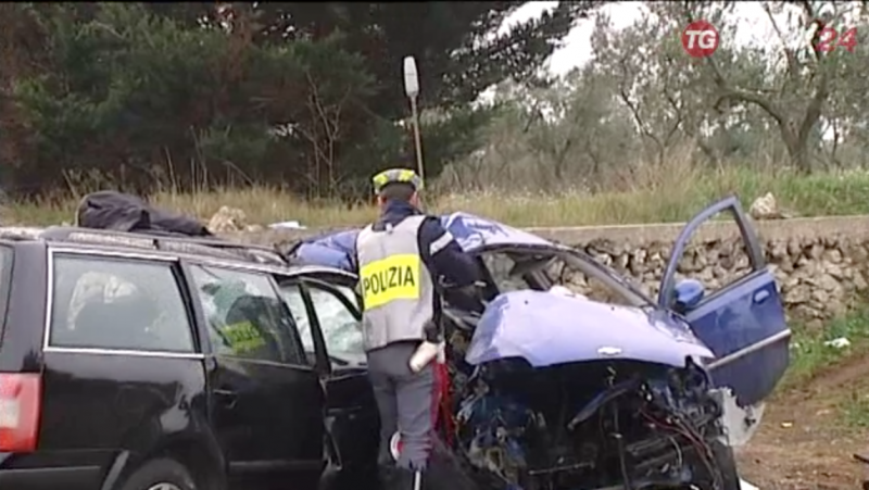 Incidente a Gioia del Colle: 4 morti
